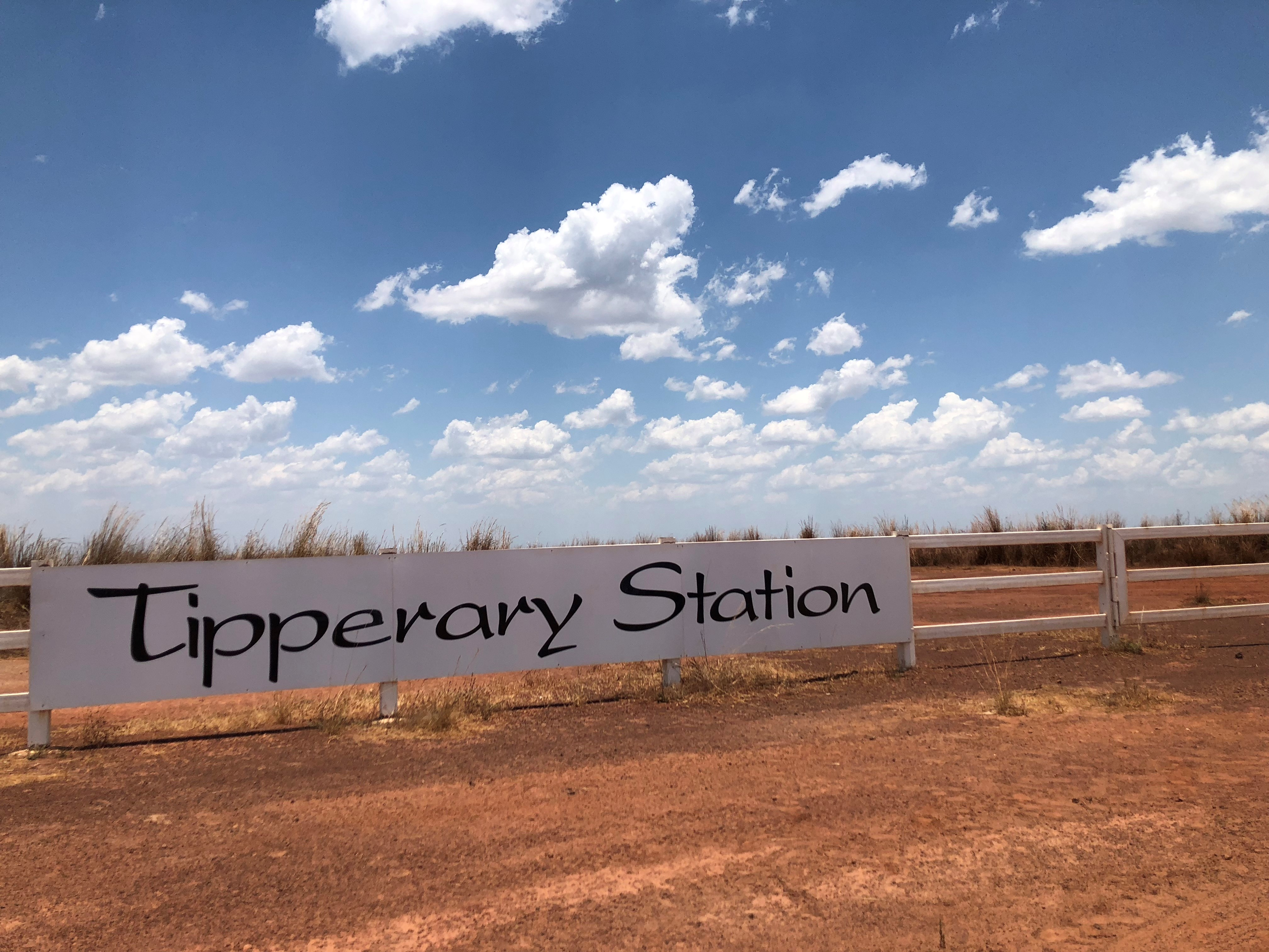 sign at Tipperary Station, NT