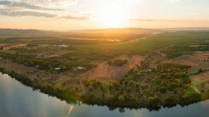 helicopter shot of Ord River, WA